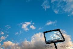 Clouds in a mirror