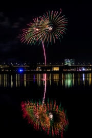 Display of Japanese fireworks