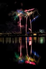 Display of Japanese fireworks